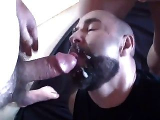 This Guy Loves To Get His Face And Beard Covered In Cum