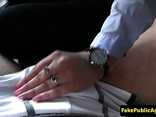 Hitchhiking Eurobabe Screwed On Backseat