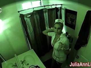 Nurse Julia Ann Visits For An Oral Exam!