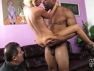Cuckold Watching Young Wife Fucked By Monster Black Cock