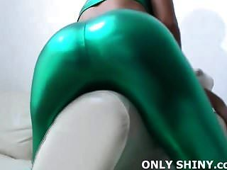 These Shiny Green Pvc Panties Are Getting Me Hot