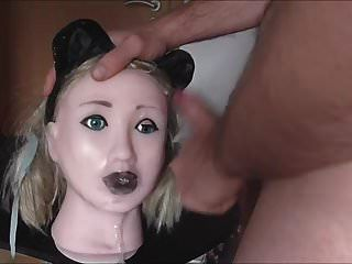 Cumdoll Abuse Cat Ears Slapping Choking Spitting Moaning Cum
