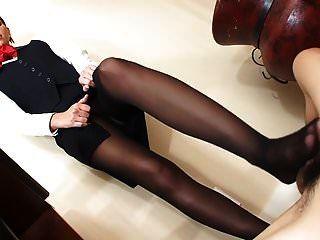 Air Hostess Pantyhose Footjob - Saf