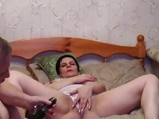 Russian Short Hair Mature With Big Tits Fucking