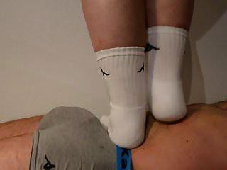 Stomach Trample In White Socks