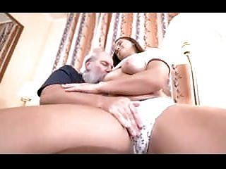 Young Busty Girl With Old Lucky Man