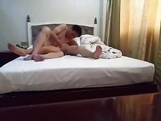 Old Chinese Couple Having It Out