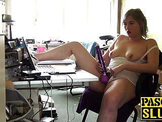 Chubby Blonde Slut Misha Mayfair Plays With Her Sex Toy
