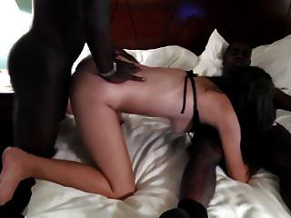 Husband Watch His Wife With Two Black Men