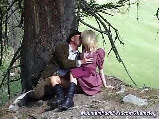 German Milf Anal Fucked In The Mountains