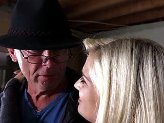 Grandpa Bangs Teen Blonde Licks Pussy Feeds Her Big Cumshot