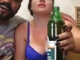 Iran Cute Prostitute Girl Drinking Before Sex Ma