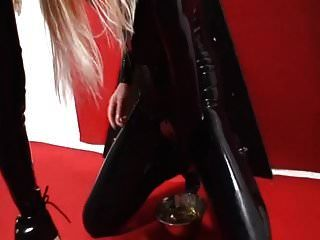 Latex Slave Girl Has To Drink Her Own Piss