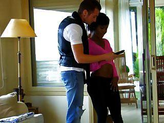 Hot Ebony Girl Has Sex With White Dick