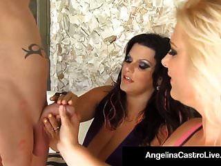 Cubas Bbw Angelina Castro & Selah Rain Get Fucked Delicious!