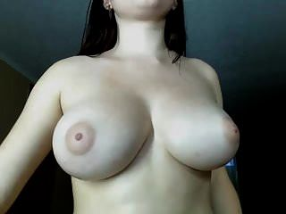 Amazing Body. Busty Firm Big Natural Boobs Masturbating
