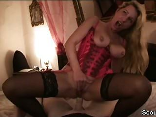 German Hot Big Tit Milf In Best Cumshot Compilation