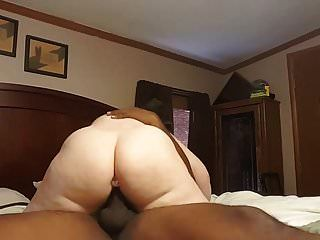 Married White Slut Riding Black Cock
