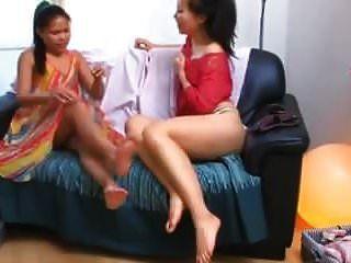 Asian Masturbating