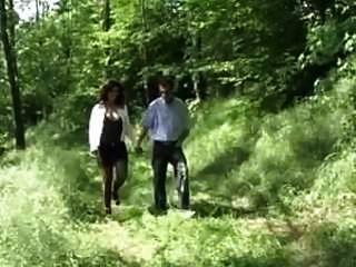 Italian Cougar Pees In The Park & Fucks
