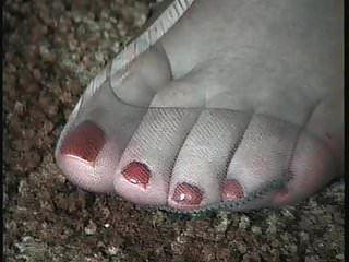 Nylon Foot Cum