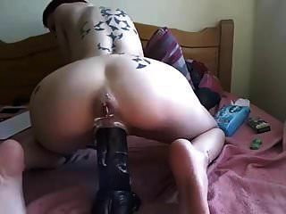 Camgirl Play With A Huge Dildo