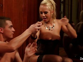 Erotic Blonde Teen Giving Perfect Blowjob That Leads To Sex