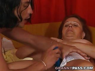 Chubby Granny Wants Young Dick In Her Hairy Pussy