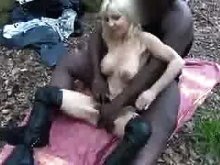 Small Blonde White Bitch Gets Ravaged By Big Black Hunk