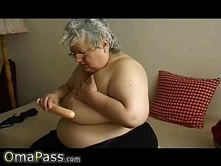 Omapass Granny Mature Amateur Solo Masturbation
