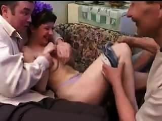 Stp Daughter Comes Home And Entertains Dad His Friends !