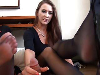 Lucky Son-of-a-bitch Gets Double Foot Job!