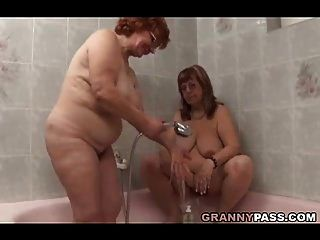Lesbian Bbw Granny Pleases A Fat Mature