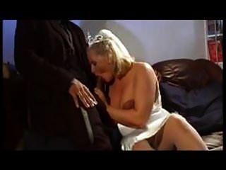 Pregnant  Blonde Big Hanging Udders Anal Stockings