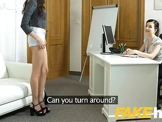 Female Agent Shy Asian Models Sexy Body Turns Agent On