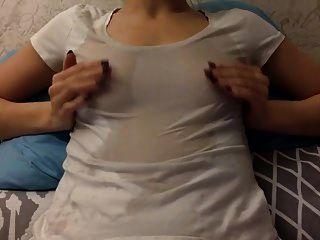 Nipple Play Cum