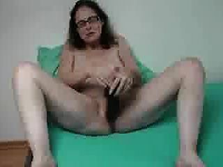 Sabine Playing With Her Huge Dildo