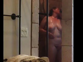 Husband Gets His Bbw Wife Off In Shower Passionately