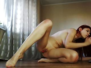 Hot & Sexy Redhead With Big Tits Vs Dildo On Cam
