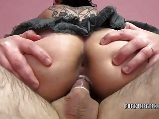 Punk Hottie Tank Fucks And Takes The Jizz In Her Mouth