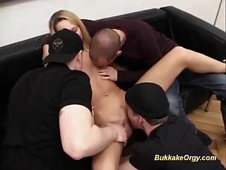 Cute German Teens First Extreme Bukkake Fuck Orgy