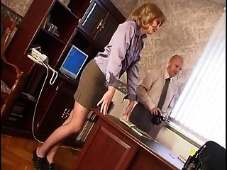 Russian Mature Henrietta Fucked In The Office