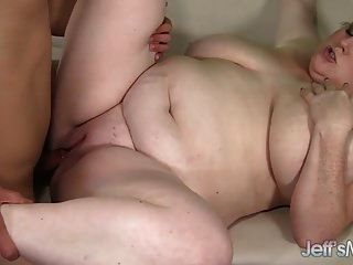Huge Boobed Bbw Has Her Pussy Filled With Cock