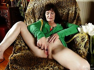 Naughty Old Spunker Loves To Fuck Her Soaking Wet Pussy 4 U