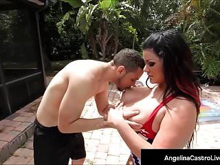Hot Cuban Bbw Angelina Castro Jizzed On Face By A Black Cock