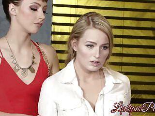 Beautiful Lesbian Police Officer Pleased By Brunette Hottie