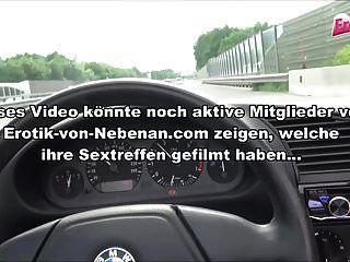 Blowjob At German Freeway - Public Amateur Teenager