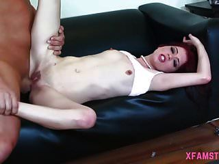 Long Haired Young Slim Teen Oiled Butt Needing A Huge Cock
