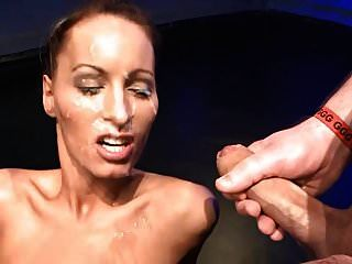 Mary Takes Some Big Facial Blasts In This Bukkake