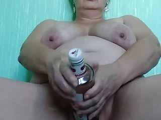 Milf Margarita Masturbates With Bottle